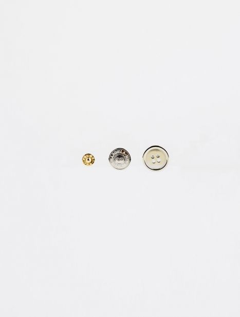 Button Stud Earring Set
