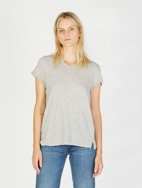 Cap Sleeve T-Shirt - Grey Marl