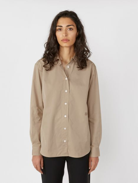 Capri Cotton Shirt - Khaki
