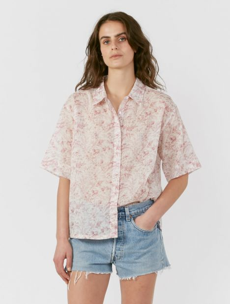 Caprice Printed Button-Up Shirt