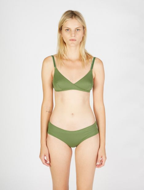 Caroline Ribbed Brief - Green