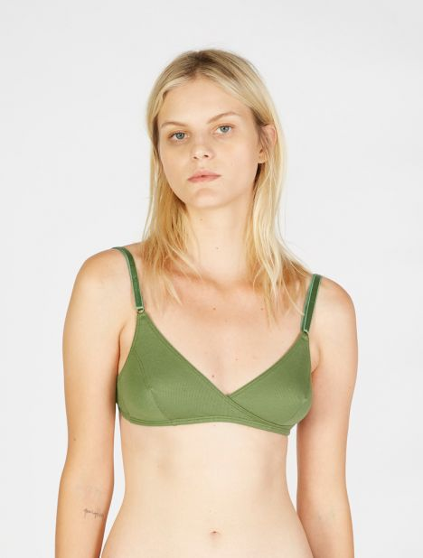 Caroline Soft Bra - Green