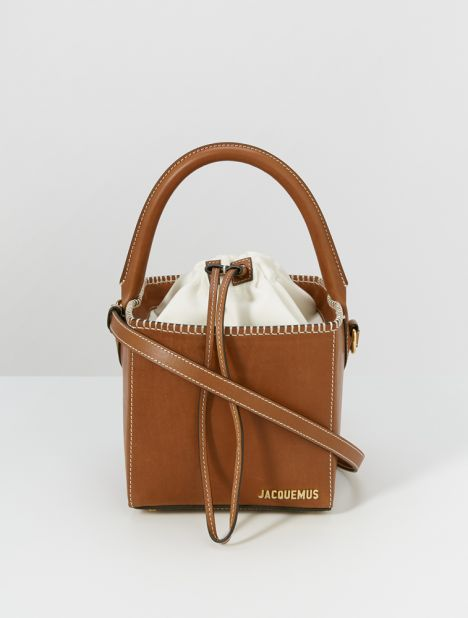 Carre Cube Shoulder Bag - Brown