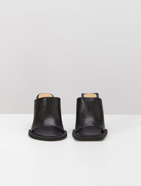 Carre Rond Heeled Mules