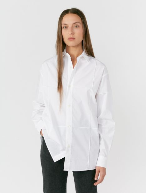 Carro Seamed Cotton Shirt
