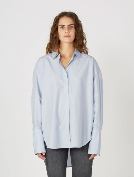 Carter Cotton Shirt  - Sky