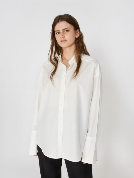 Carter Cotton Shirt  - White
