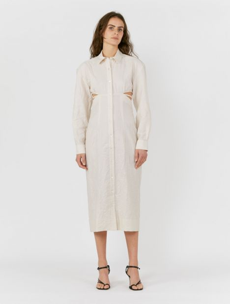 Cavaou Wrinkled Shirt Dress