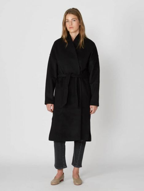 Chelsea Wool-Blend Wrap Coat