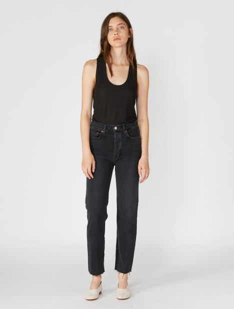 Originals High Rise Stovepipe Jean - Faded Black