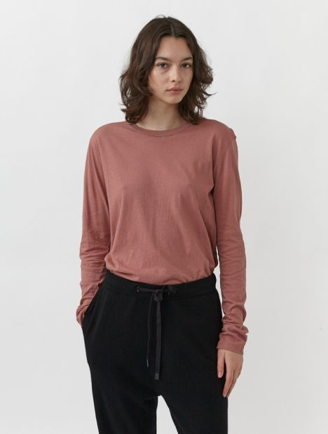 Slim Fit Classic Long Sleeve T-Shirt - Clay