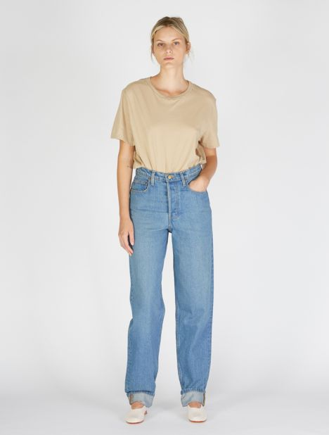 Claude High Slouch Jean - Marble Blue Wash