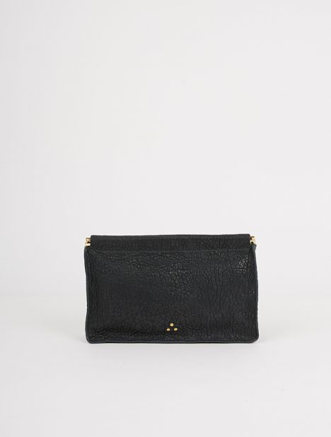 Clic Clac Large Leather Clutch - Pétrole