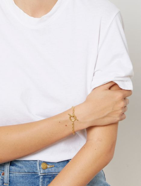 Coffee Beans Bracelet - Gold