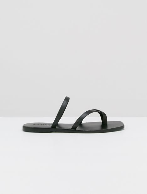Colby Leather Sandal - Black