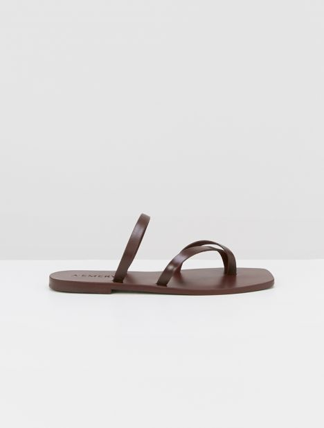 Colby Leather Sandal - Burgundy