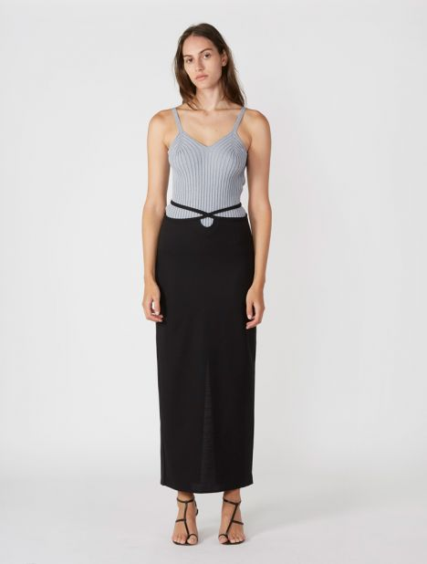 EXCLUSIVE | Tailored Column Tie Skirt