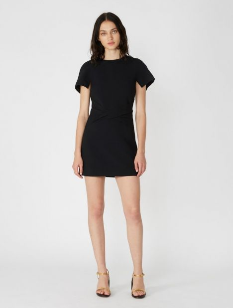 Concave Crepe Mini Dress
