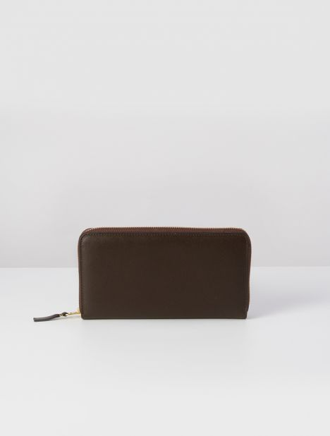 Classic Leather Continental Wallet - Brown