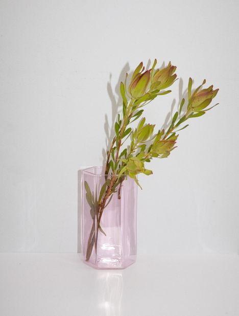 Coucou Glass Vase - Pink