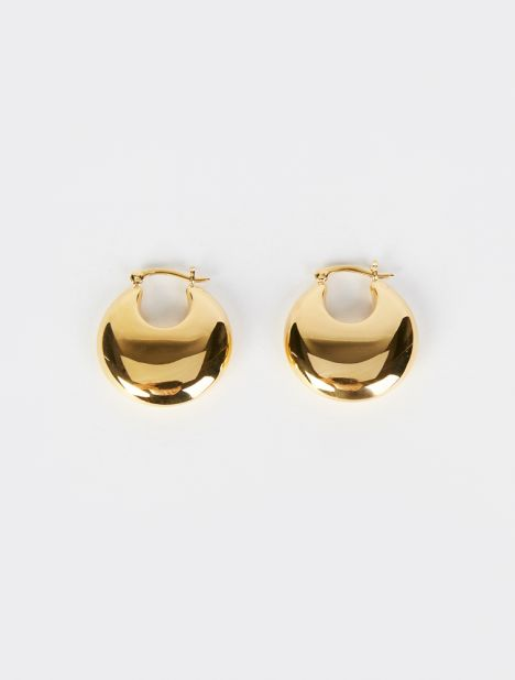 Classic Cowbell Gold Vermeil Earrings