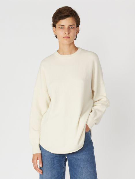 n°53 Crew Hop Cashmere Sweater - Cream