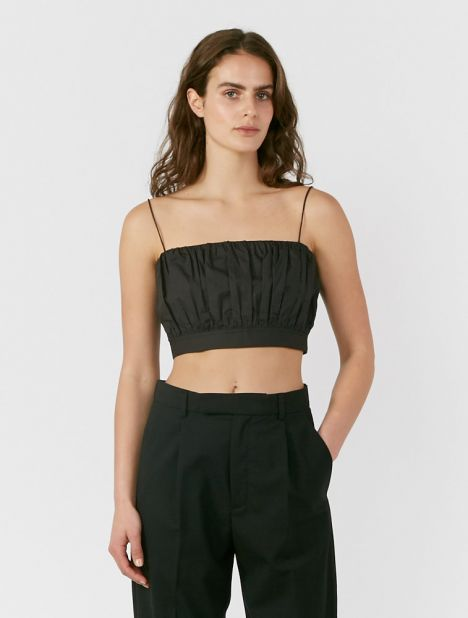 Ruched Cropped Camisole