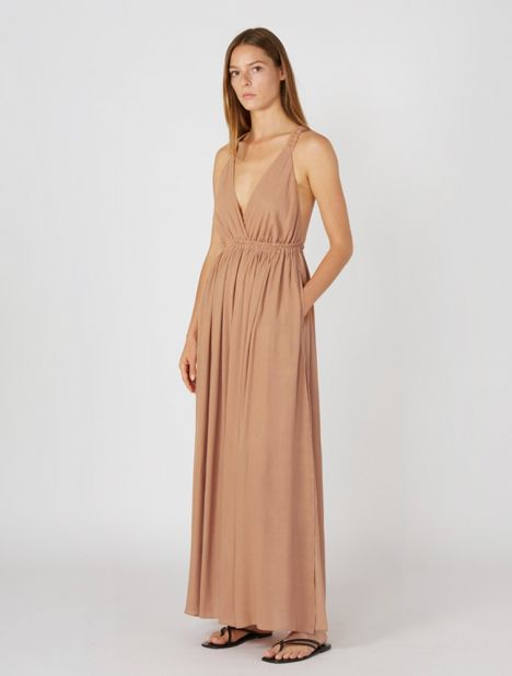 Crossback Plunge Dress
