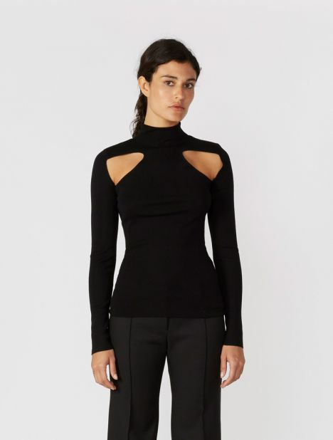 Merino Wool Cut Out Skivvy