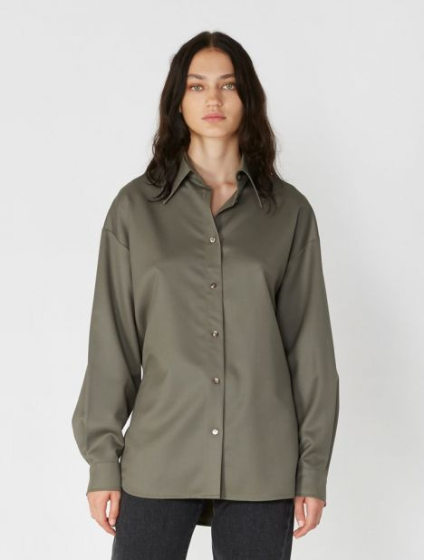 Side D-Ring Wool Shirt