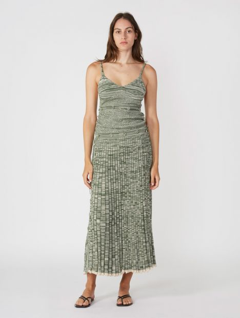 Deconstruct Knit Cami Dress - Moss Marle