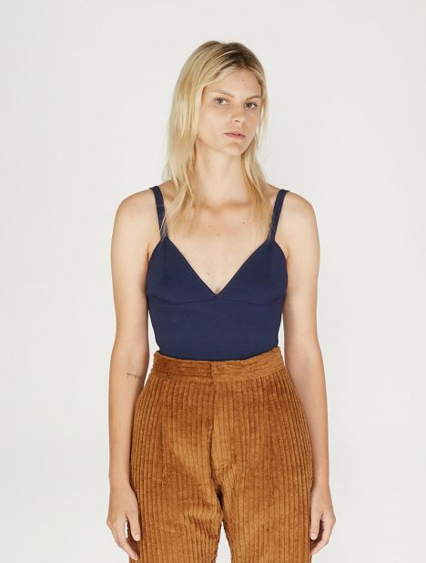 Density Knit Bralette - Ink