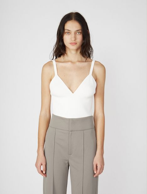 Density Knit Bralette - White