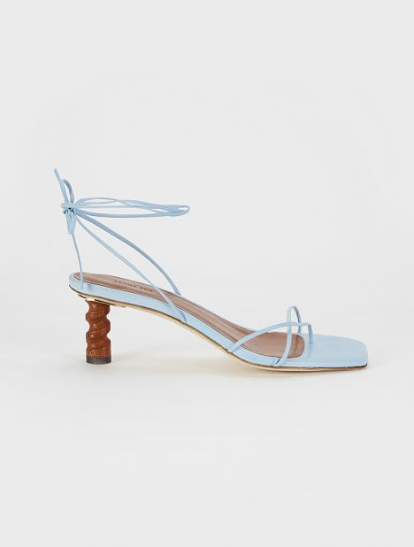 Doris Leather Sandal - Blue