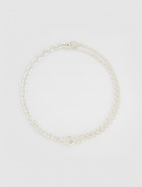 Double Necklace - Silver