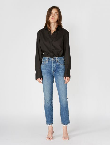Originals Double Needle Crop Jean - Trucker Wash