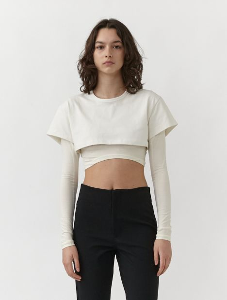 Cropped Double T-Shirt