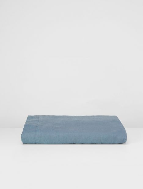 Linen Duvet Cover - Lake Blue