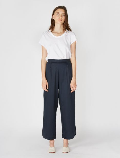 Easy Split Cuff Cotton Pant