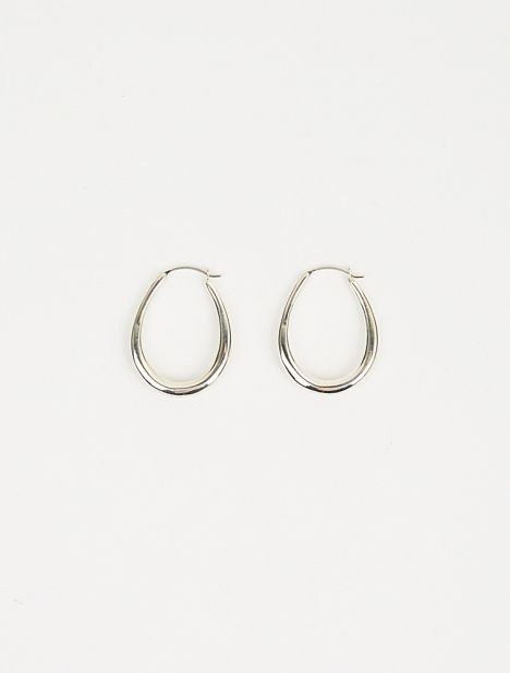 Small Egg Hoop Earrings