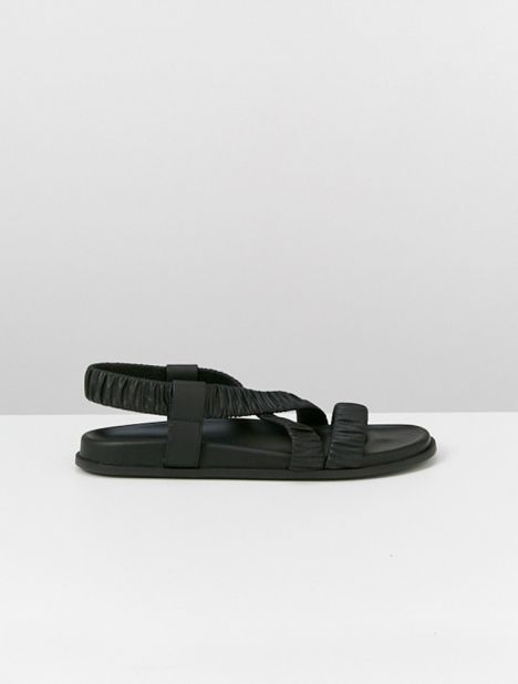 Elasticised Leather Sandal