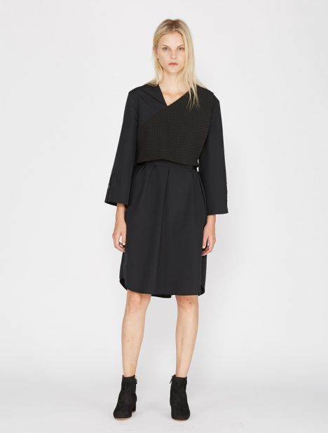 Tilted Cuff Shirt Dress