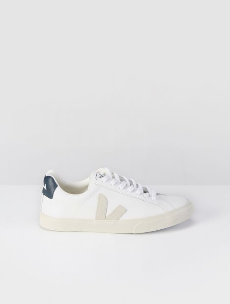 Esplar Low-Top Leather Sneaker - Extra White / Nautico