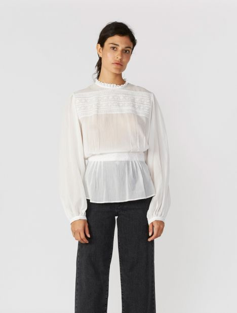 Long-Sleeved Este Top
