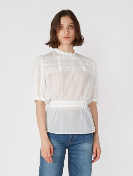 Lace Trim Este Top