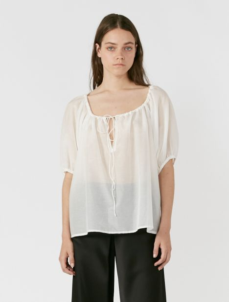 Eulalie Silk Cotton Blouse