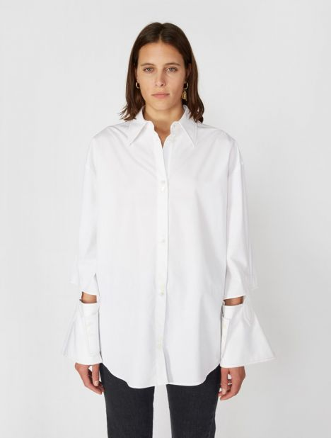 Evelyn Abstract Cuff Shirt