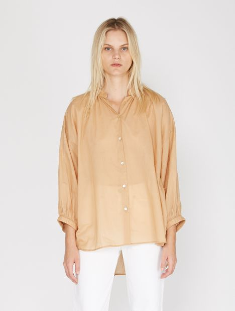 Everyday Cotton Blouse - Camel