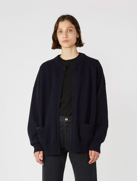 n°107 Cashmere Open Front Jacket - Navy