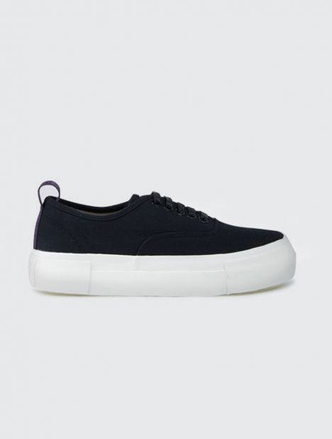Mother Black Canvas Sneaker
